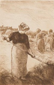 """""""Haymaker"""" Les Faneuses c 1890 etching by Camille Pissarro"""