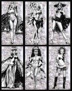 6 piece Showgirls suite, Laminated Giclees by Michael Bryan