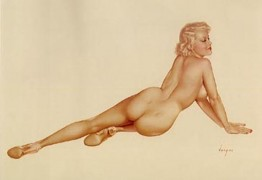 """Legacy Nude #6, """"Big Blonde"""" Lithograph/Arches by Alberto Vargas"""
