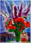 """Le Bouquest de Renoncules"" Plate-Signed Lithograph by Marc Chagall"