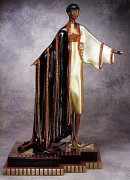 """Michelle"" Bronze Sculpture by Erte"