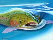 """Salmon Snack"" Limited Edition Giclee on Canvas by A D Maddox"
