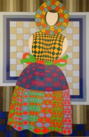 """Fille Femme""  Limited Edition Silkscreen by Victor Vasarely"