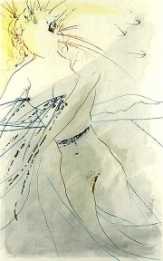 """Thou art all fair my love"" etching by Salvador Dali"