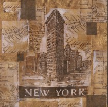 """New York"" Open Edition Giclee on Canvas by Marta C Wiley"