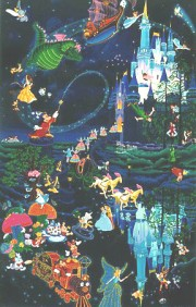 """Tokyo Disneyland 10th Anniversary"" Serigraph with Remarque by Melanie Taylor Kent"