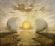 """Sunrise By The Ocean"" Giclee on Canvas by Vladimir Kush"