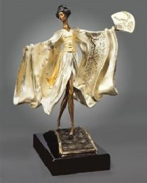 """Asian Princess"" a Bronze Sculpture by Erte"