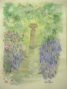 """Springtime Flowers"" Original Watercolor by Lelia Pissarro"