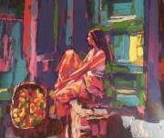 """""""Angela"""" 1980 Lithograph by Nicola Simbari"""