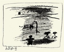 """""""Toreros: 6.3.61 IV"""" 1961 Lithograph on Wove Paper by Pablo Picasso"""