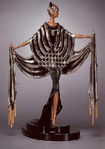 """Opening Night"" bronze sculpture by Erte"