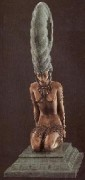 """La Plume"" Bronze Sculpture by Erte"