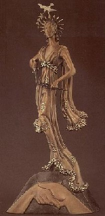 """Peace"" a Bronze Sculpture by Erte"