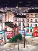 """Paris Ville Lumiere"" Hand-Pulled Serigraph on Canvas by Liudmila Kondakova"
