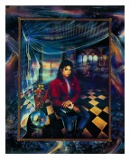 """""""The Book"""" Michael Jackson Trial Proof Serigraph by Brett Livingstone Strong"""