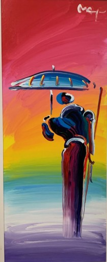"""""""Sage with Umbrella and Cane Ver. III #2"""" by Peter Max"""