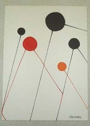 """Balloons"" unsigned Lithograph by Alexander Calder"