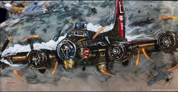 """Air War"" Giclee/Paper Or Hand-Embellished Canvas by Michael Bryan"