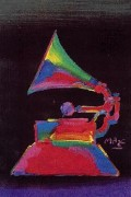 """Grammy '89"" original acrylic on canvas by Peter Max"