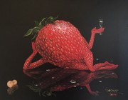 """Sexy Strawberry"" giclee by Michael Godard"