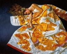 """Bird of Paradise"" digital pigment print on archival canvas by Douglas Hofmann"