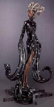 """""""Bal Tabarin"""" Bronze Sculpture by Erte"""