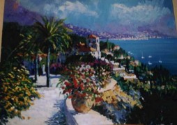 """Riviera Reverie"" Original Acrylic/Canvas by Kerry Hallam"