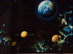 """""""Earth Fantasy"""" Limited edition silk screen on glass by Dave Archer"""