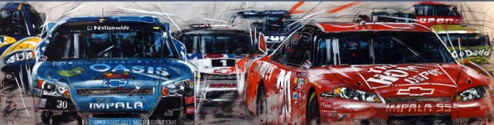 """Nascar"" Giclee/Paper by Michael Bryan"