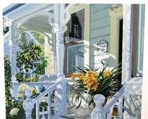 """""""Emily's Inn"""" Signed and numbered Serigraph by Susan Rios"""