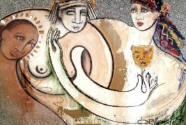 """Pitonisa"" Original Oil on Canvas by Orlando AB"