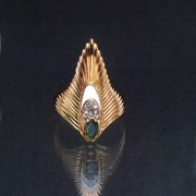 """Rayonnement Ring, State VIII"" Fine Art to Wear Ring from Erte"