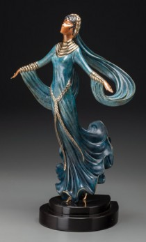 """Ecstasy"" Bronze Sculpture by Erte"