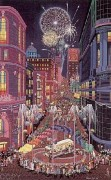 """""""Return of the Cable Cars"""" Serigraph by Melanie Taylor Kent"""