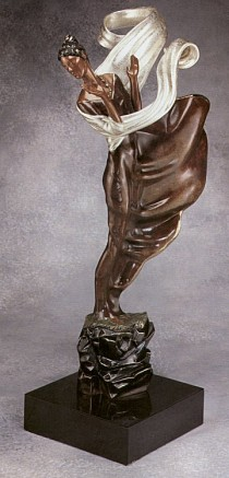 """Summer Breeze"" Bronze Sculpture by Erte"