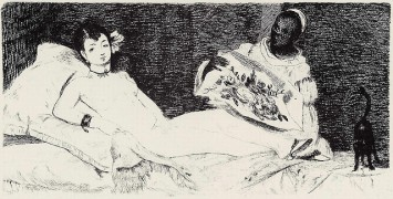 """Olympia"" stock photo of the etching with drypoint by Edouard Manet"