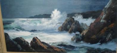"""Untitled"" Seascape Original Oil on Canvas by Marshall Merritt"