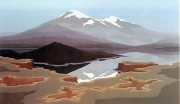 """Mount St. Helens"" Serigraph by Jerry Schurr"