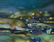 """Rainbow On"" Giclee on Canvas by AD Maddox"