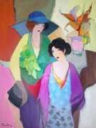 """Friends"" Original Acrylic on Canvas by Itzchak Tarkay"