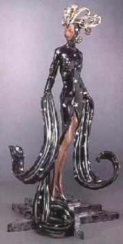 Bal Tabarin Bronze Sculpture by Erte