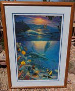 """Island Enchantment"" Framed Mixed Media Graphic with Remarque by Christina Riese Lassen"