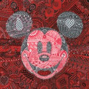 """MeHandi Mickey"" Hand-Embellished Giclee/Canvas by Tennessee Loveless"