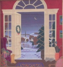 """Christmas in Vermont"" Original Casein on Canvas by Thomas McKnight"