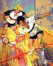 """Racquetball"" Serigraph by LeRoy Neiman"