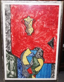 """Calabrian Jug"" 1990 Original Acrylic on Paper by Italo Scanga"