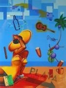 """Beach"" Giclee by Rick Garcia"