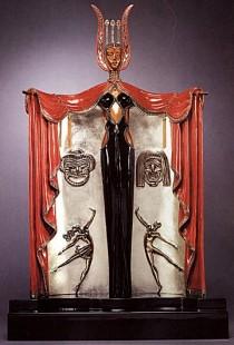 """""""Broadways In Fashion"""" Bronze Sculpture by Erte"""