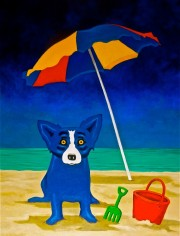 """Looking For A Beach House"" Lithograph by George ""Blue Dog"" Rodrigue"